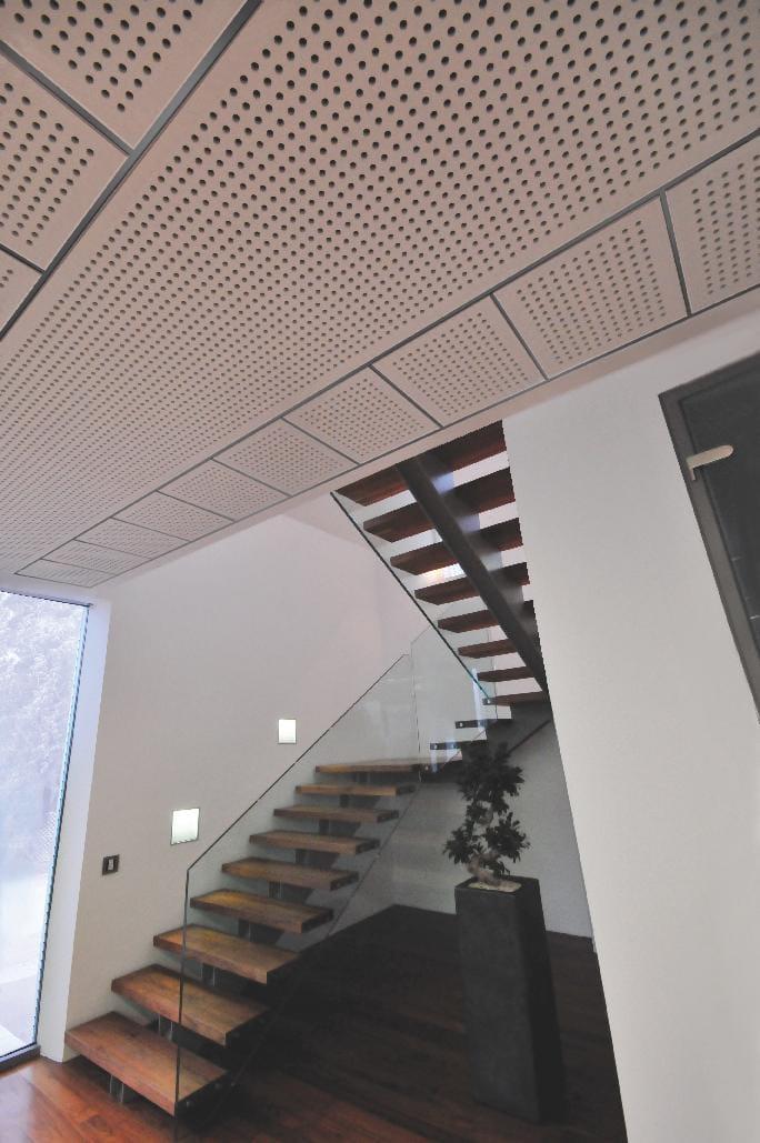 faux plafond acoustique en placo tile 8 18q by fibran