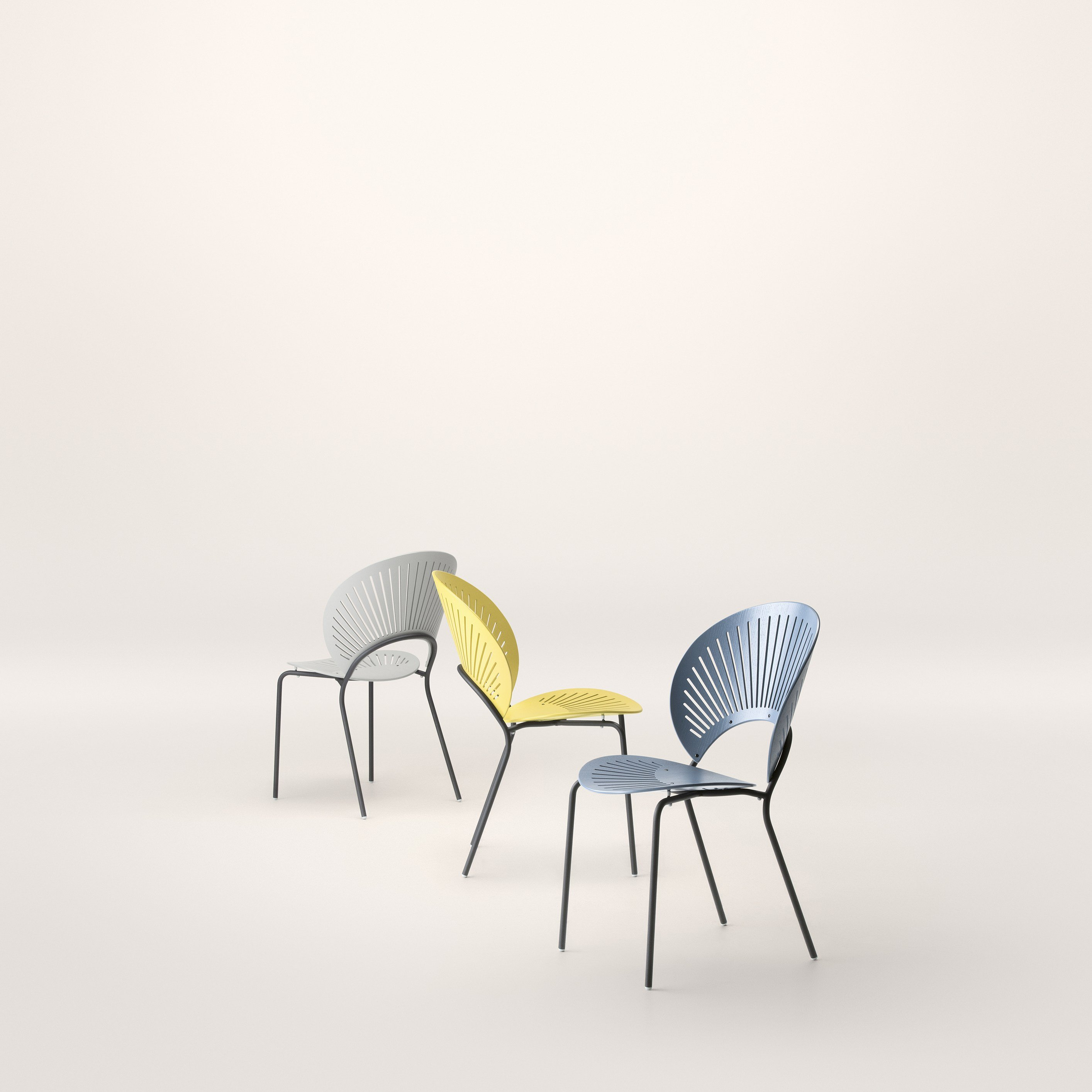 Marvelous photograph of TRINIDAD Chair by FREDERICIA FURNITURE design Nanna Ditzel with #A59026 color and 2828x2828 pixels