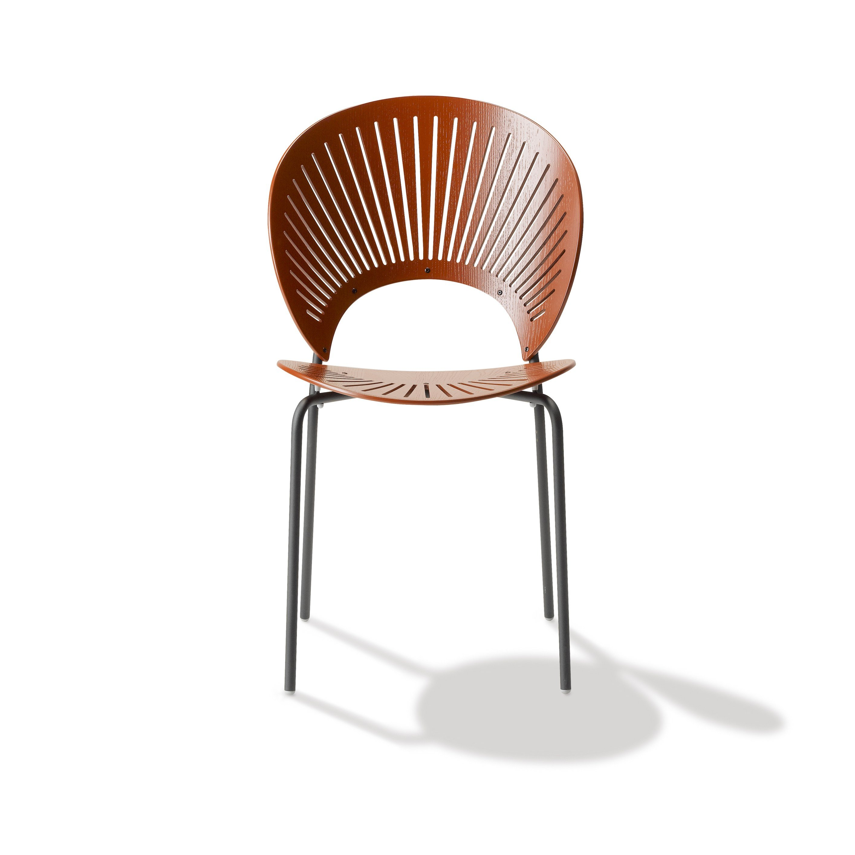Marvelous photograph of TRINIDAD Chair by FREDERICIA FURNITURE design Nanna Ditzel with #762F0E color and 2828x2828 pixels
