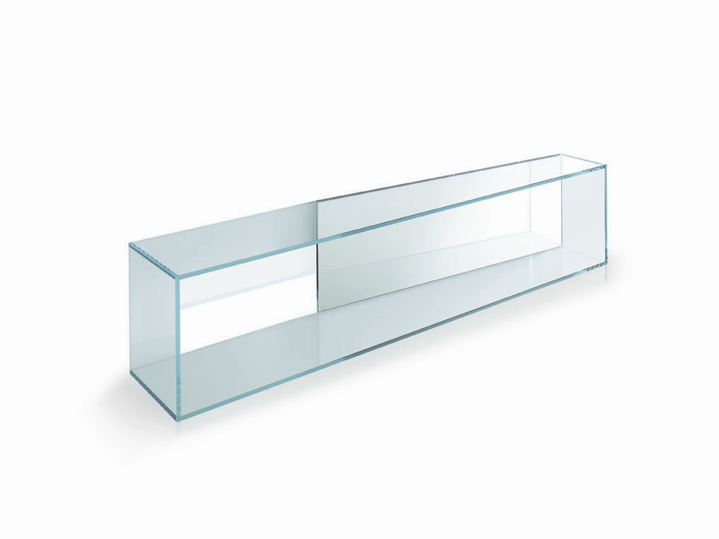 Tag re murale en verre brama by t d tonelli design for Etagere verre
