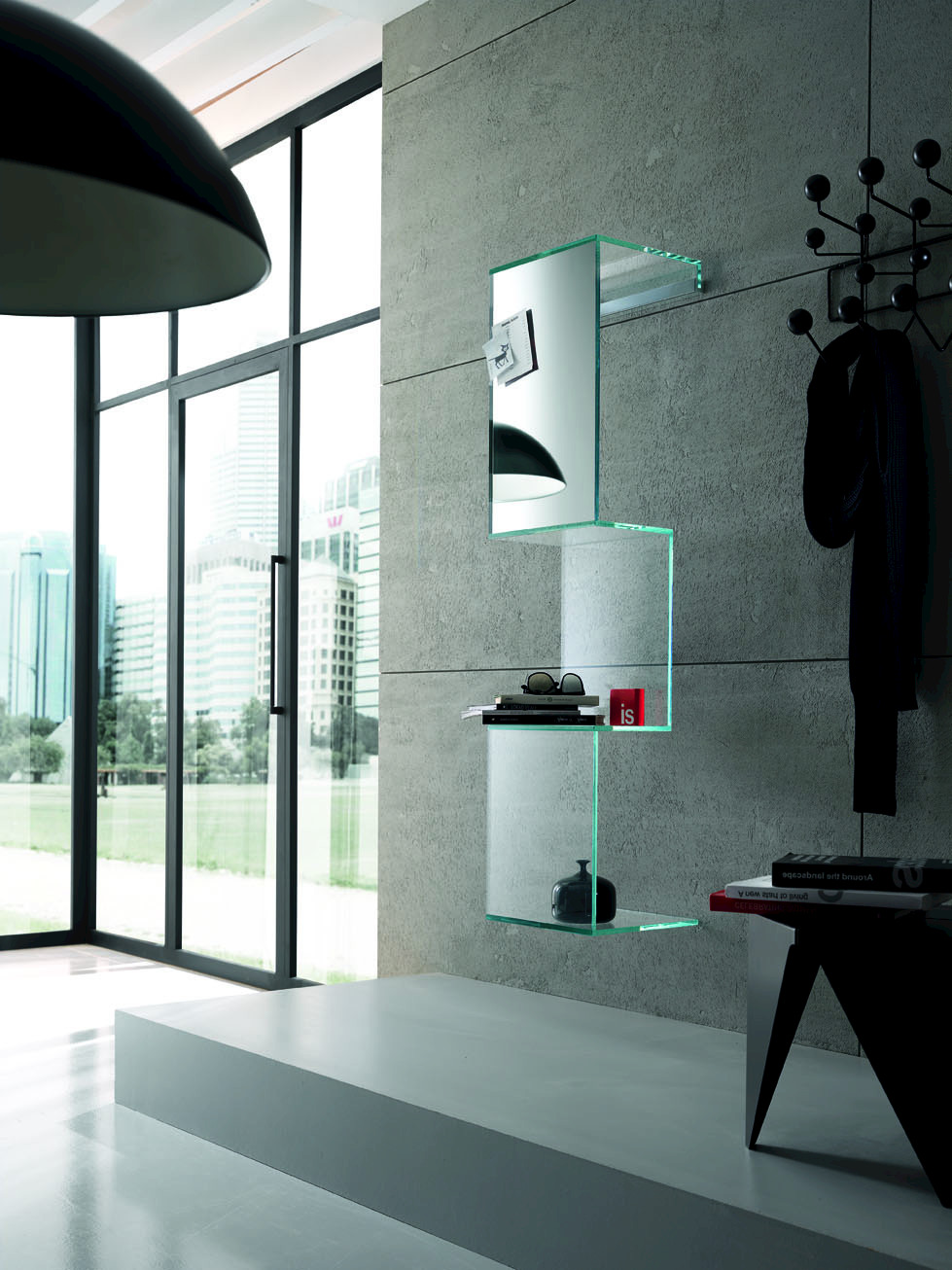 Wandregal design glas  Wandregal aus Glas CLING By Tonelli Design