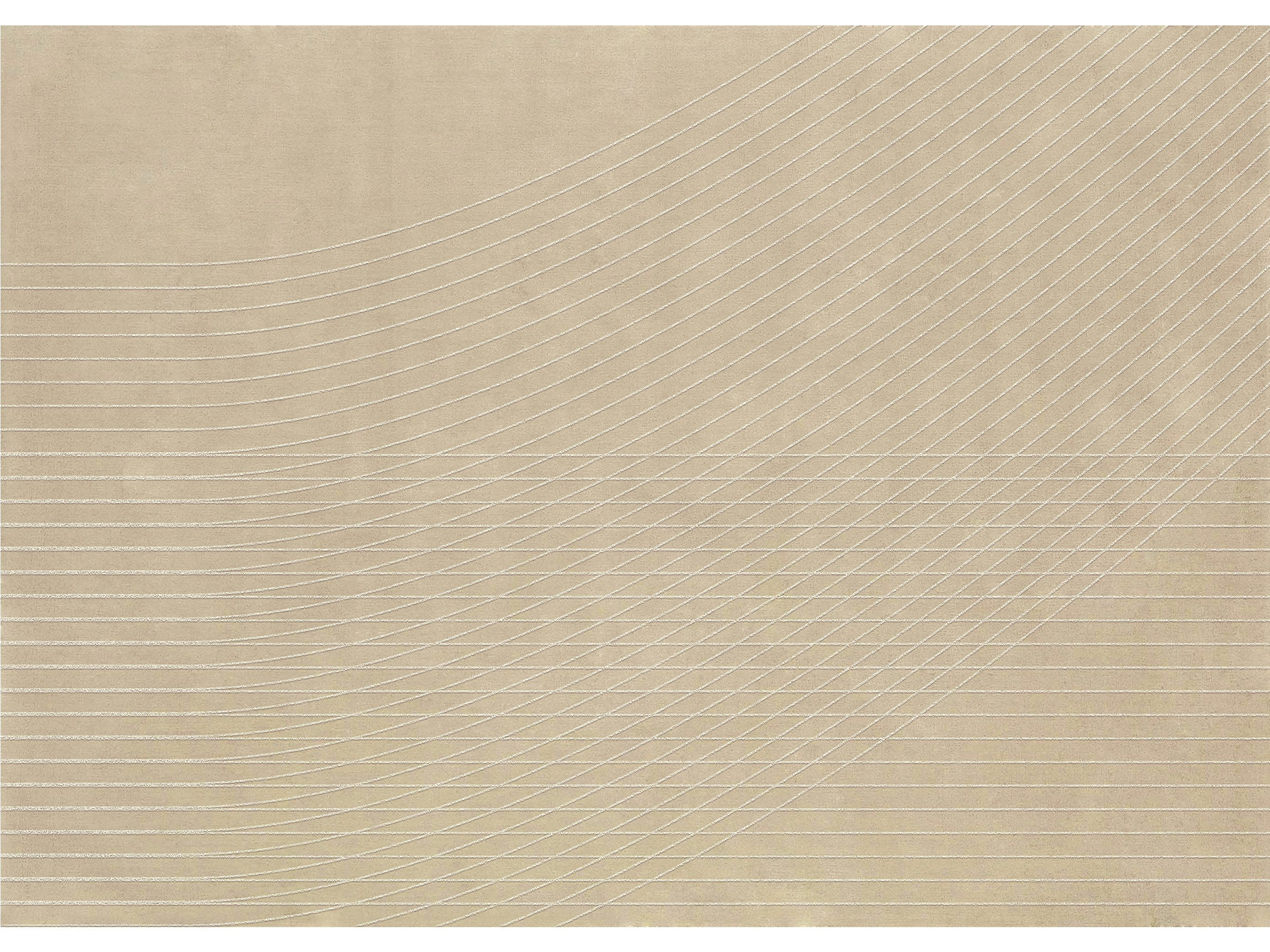 Solid color wool rug sabbia by now carpets design jose albors for Color sabbia