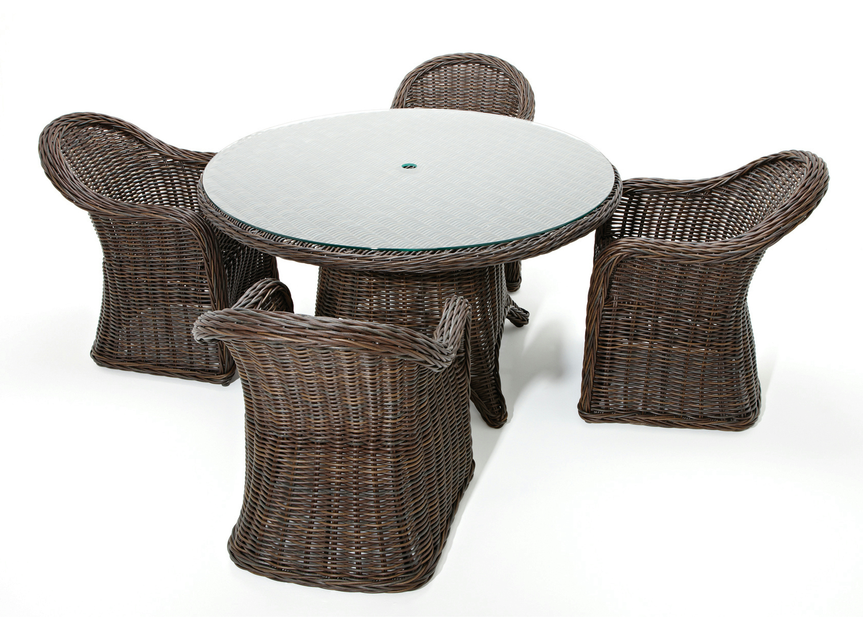 Havana table de jardin ronde by gloster design povl eskildsen for Table de jardin ronde en resine blanche