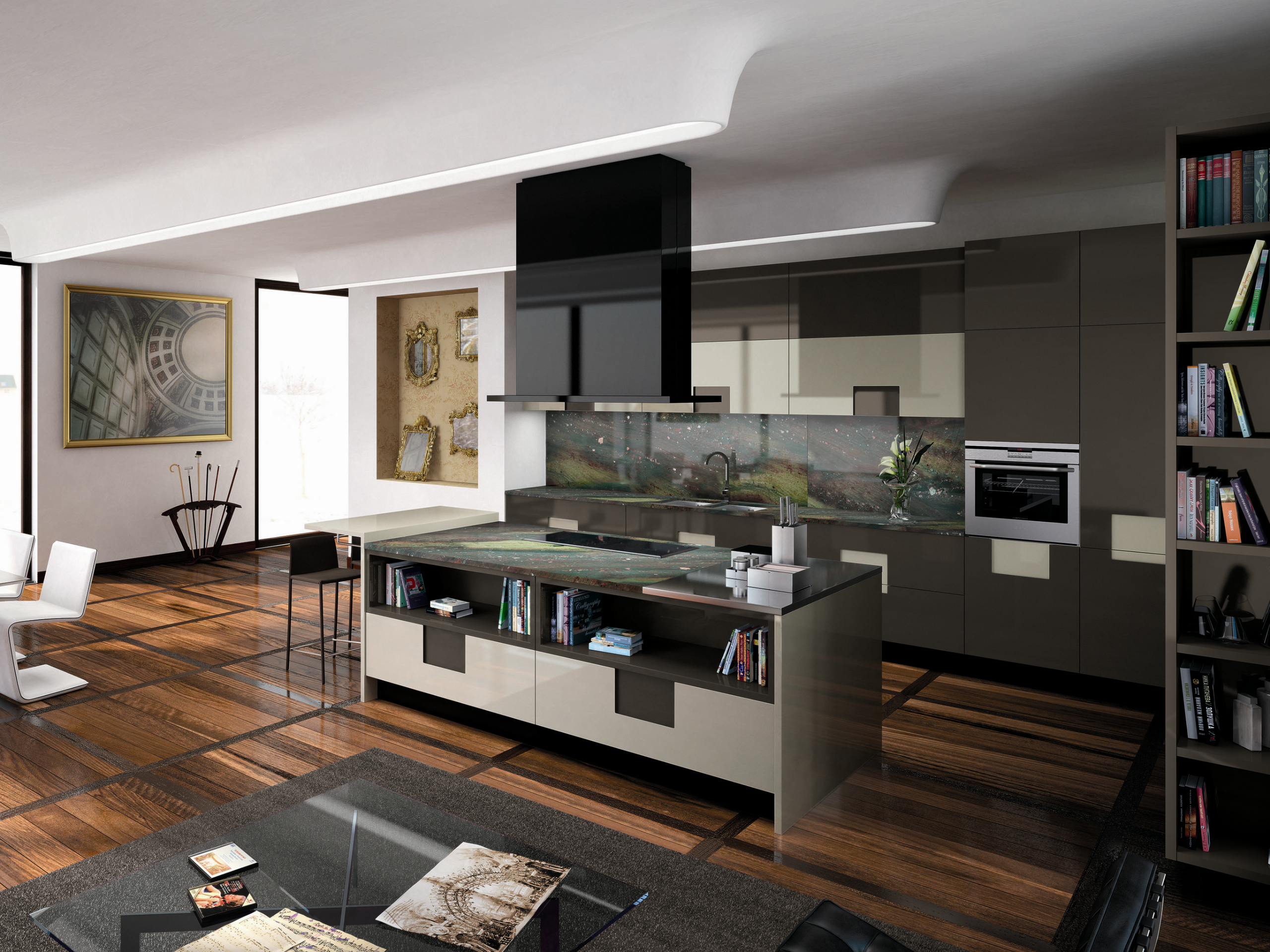 Lacquered kitchen carr 05 carr collection by ernestomeda for Ernesto meda cucine