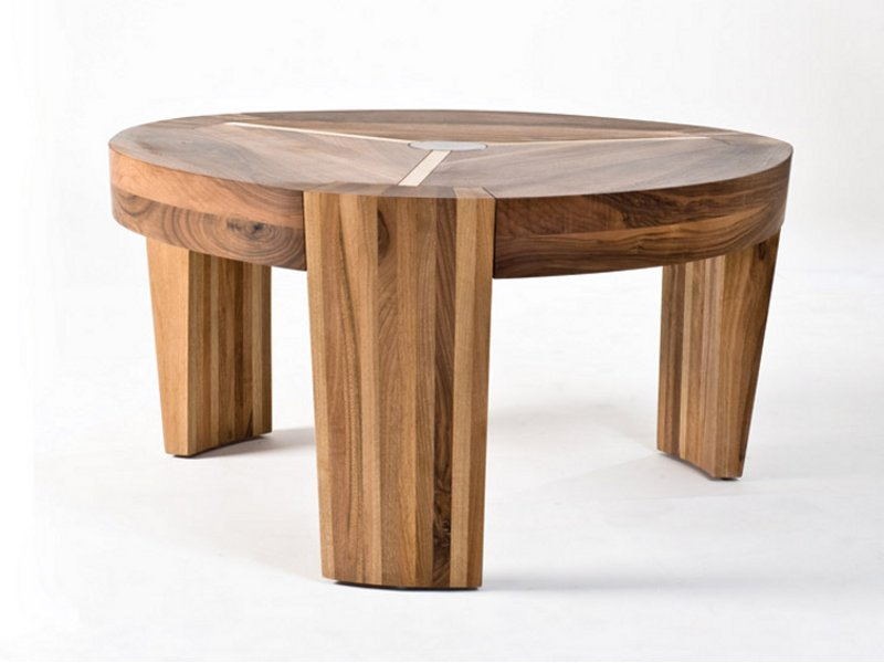Round Walnut Coffee Table Termag Collection By Artisan Design Amir Vuk Zec