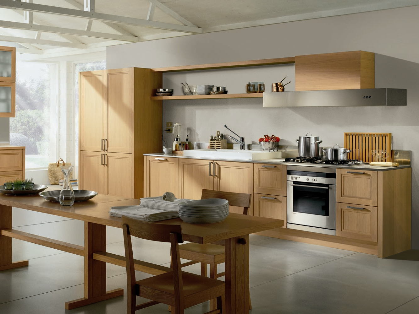 Cucina in laminato con maniglie collezione supr me by ernestomeda design castiglia associati - Laminato in cucina ...