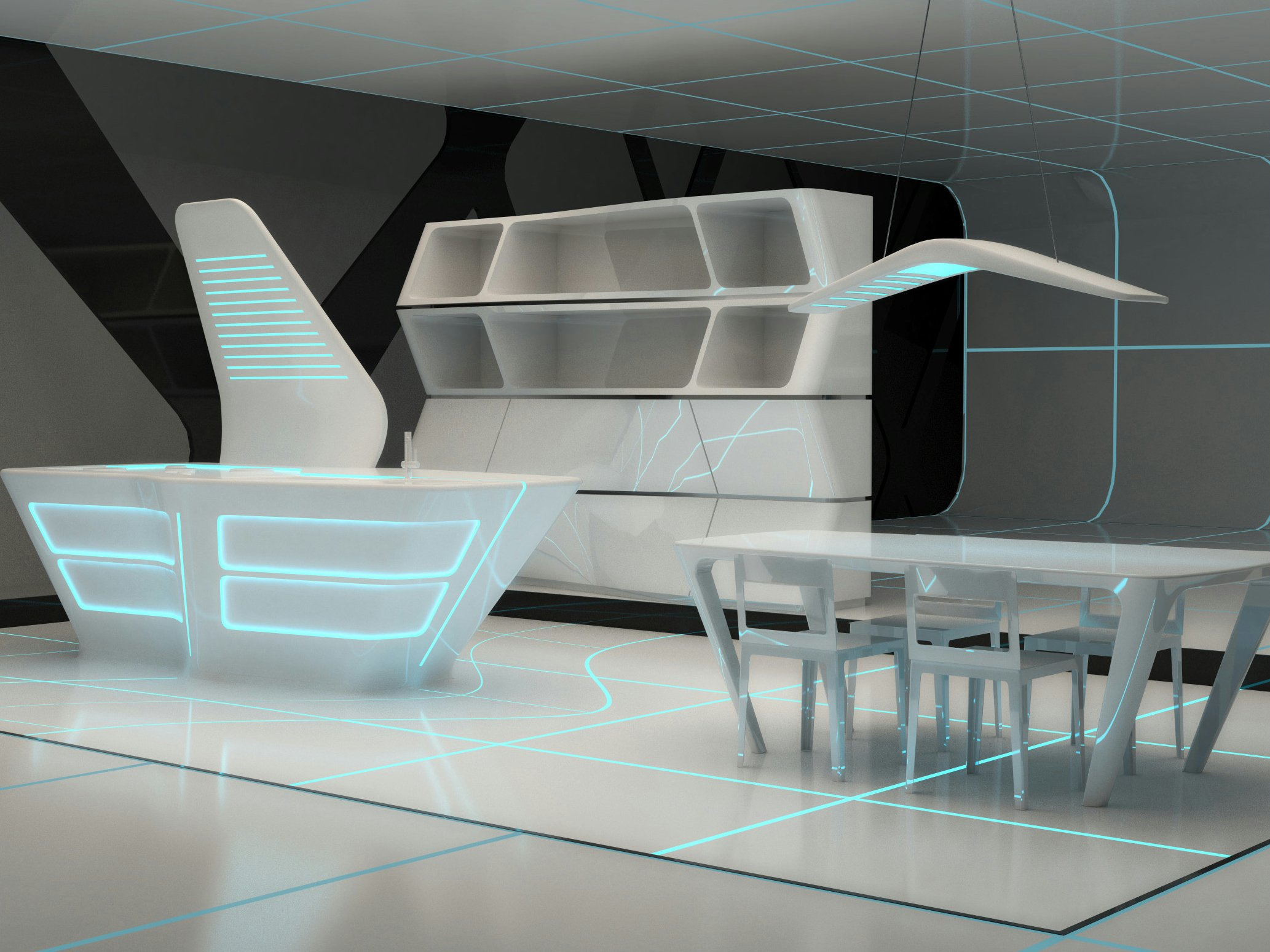 corian kitchen with island tron designs corian by ernestomeda design aquilialberg - Corian Kitchen Table
