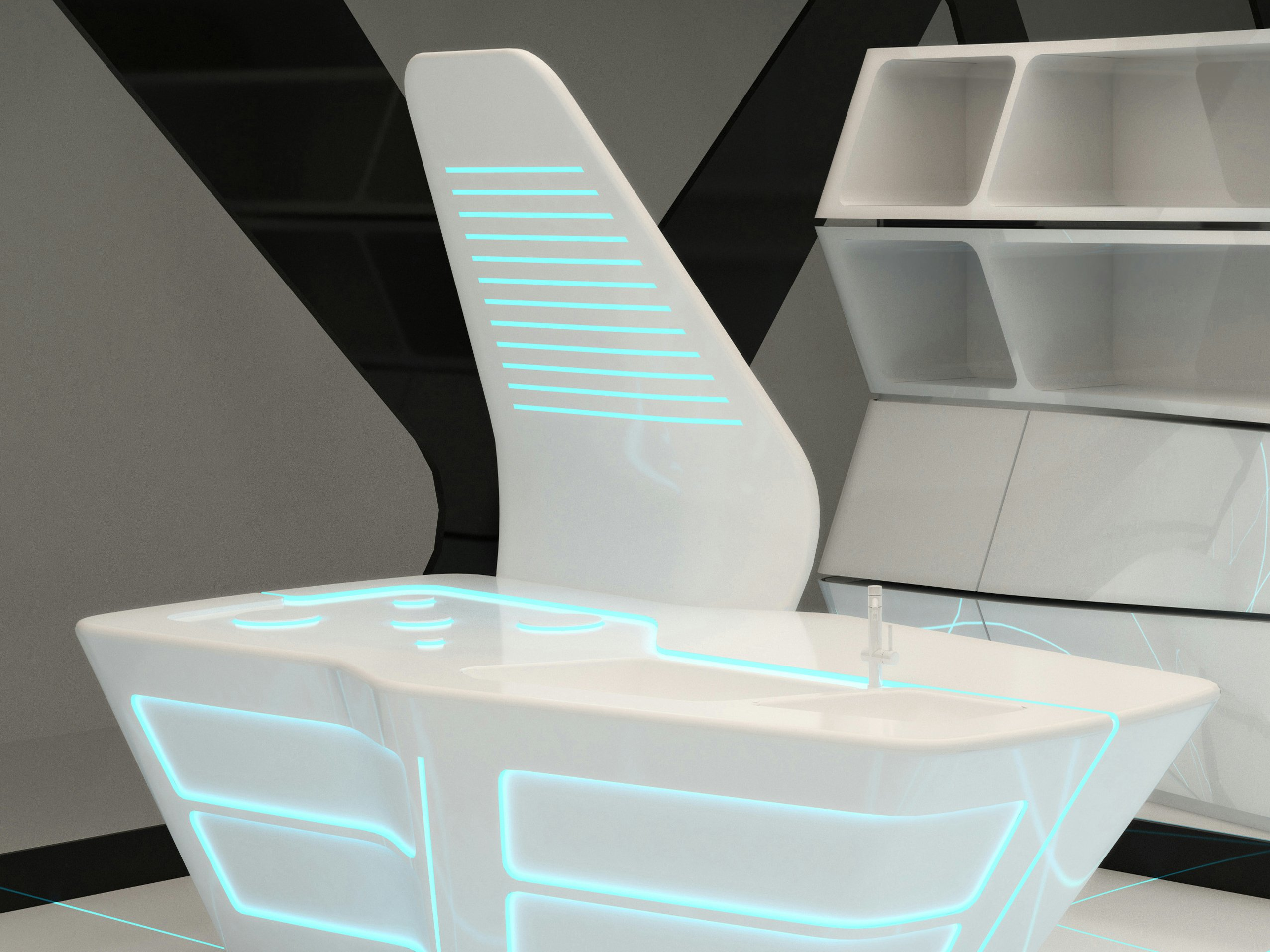 Corian Kitchen With Island TRON DESIGNS CORIAN By