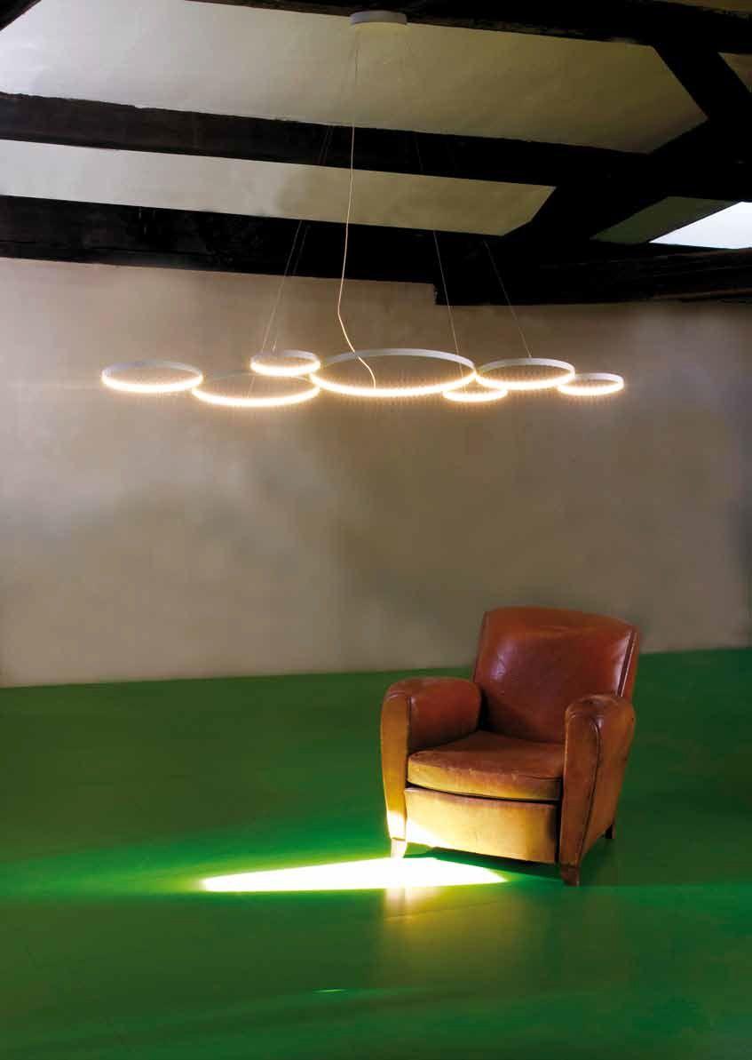L mpara colgante led con luz directa indirecta ultra8 by - Luz indirecta led ...