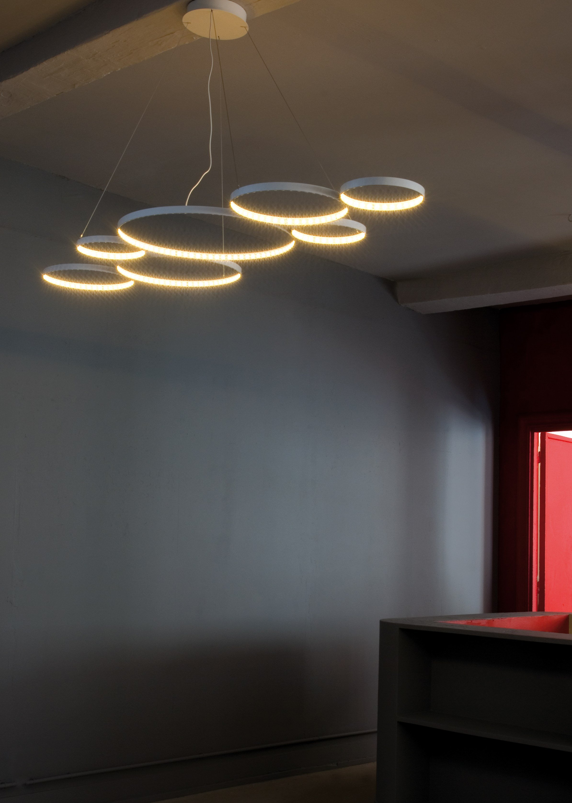 LED direct-indirect light pendant lamp ULTRA8 by Le Deun Luminaires