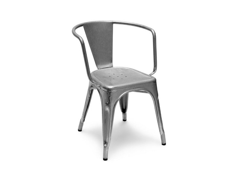 Chair with armrests a97 a collection by tolix steel design - Chaise ancienne avec accoudoir ...