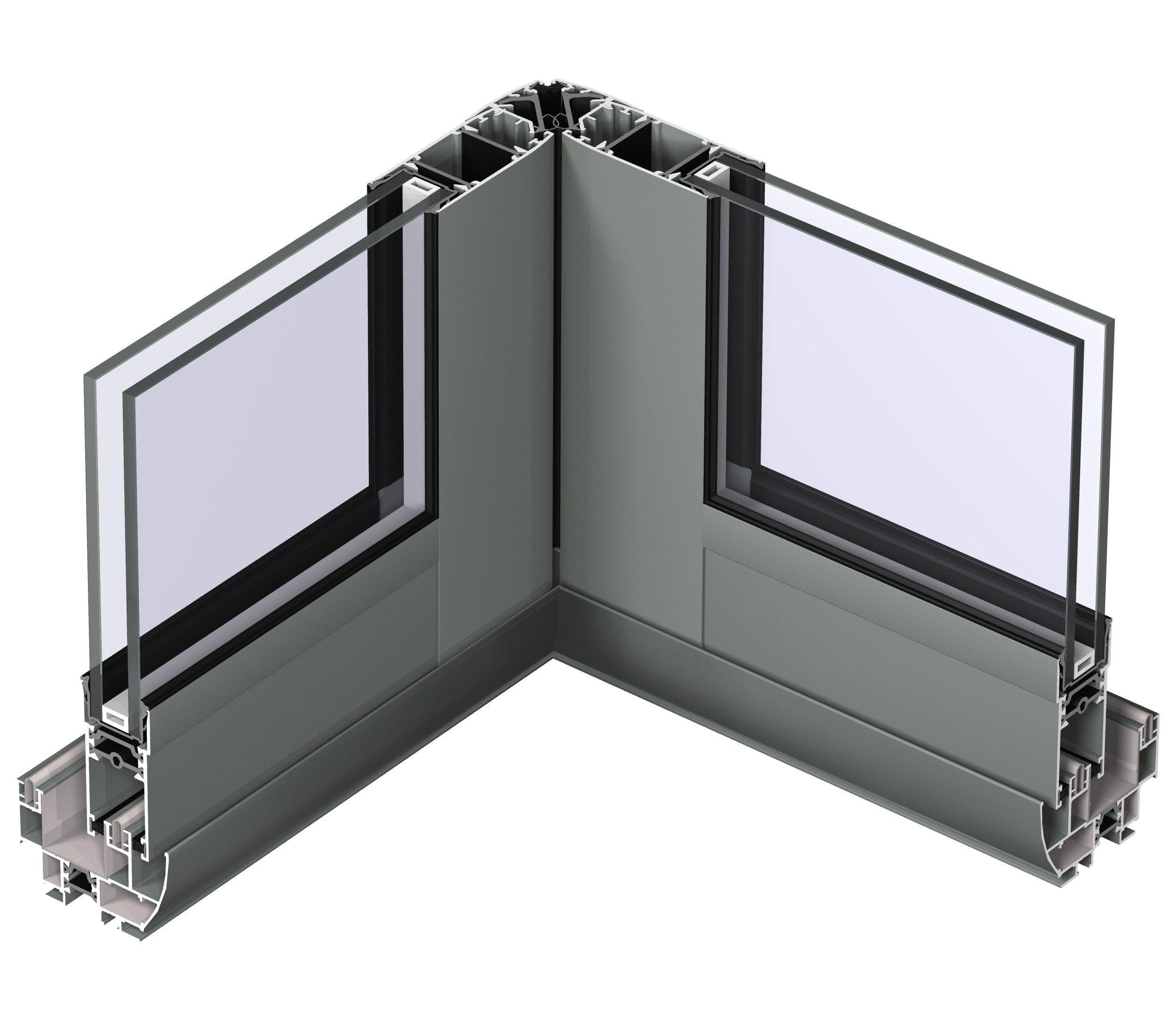 Fen tre coulissante en aluminium avec double vitrage for Fenetre double vitrage avec aeration