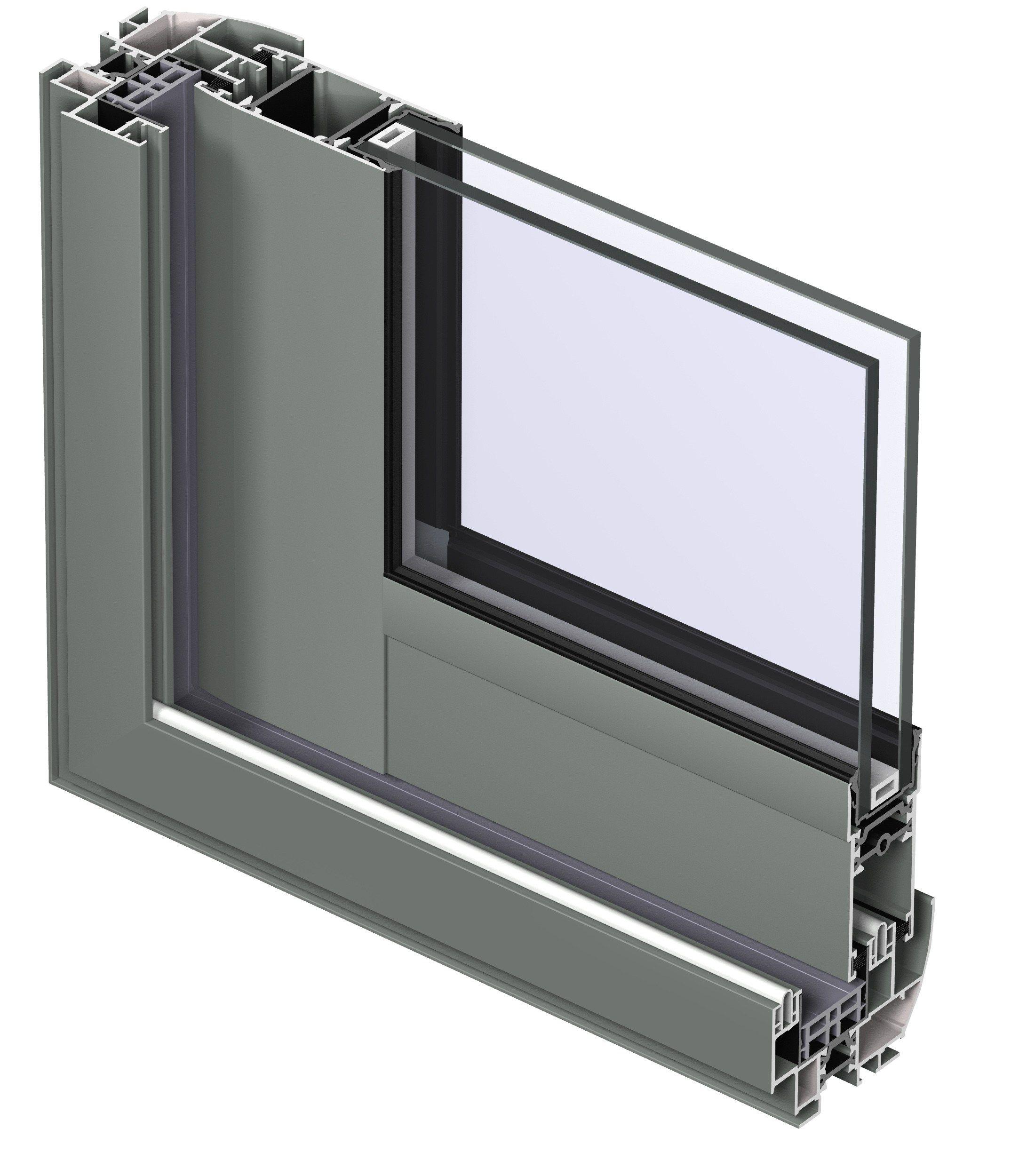 Fen tre coulissante en aluminium avec double vitrage for Fenetre double vitrage alu