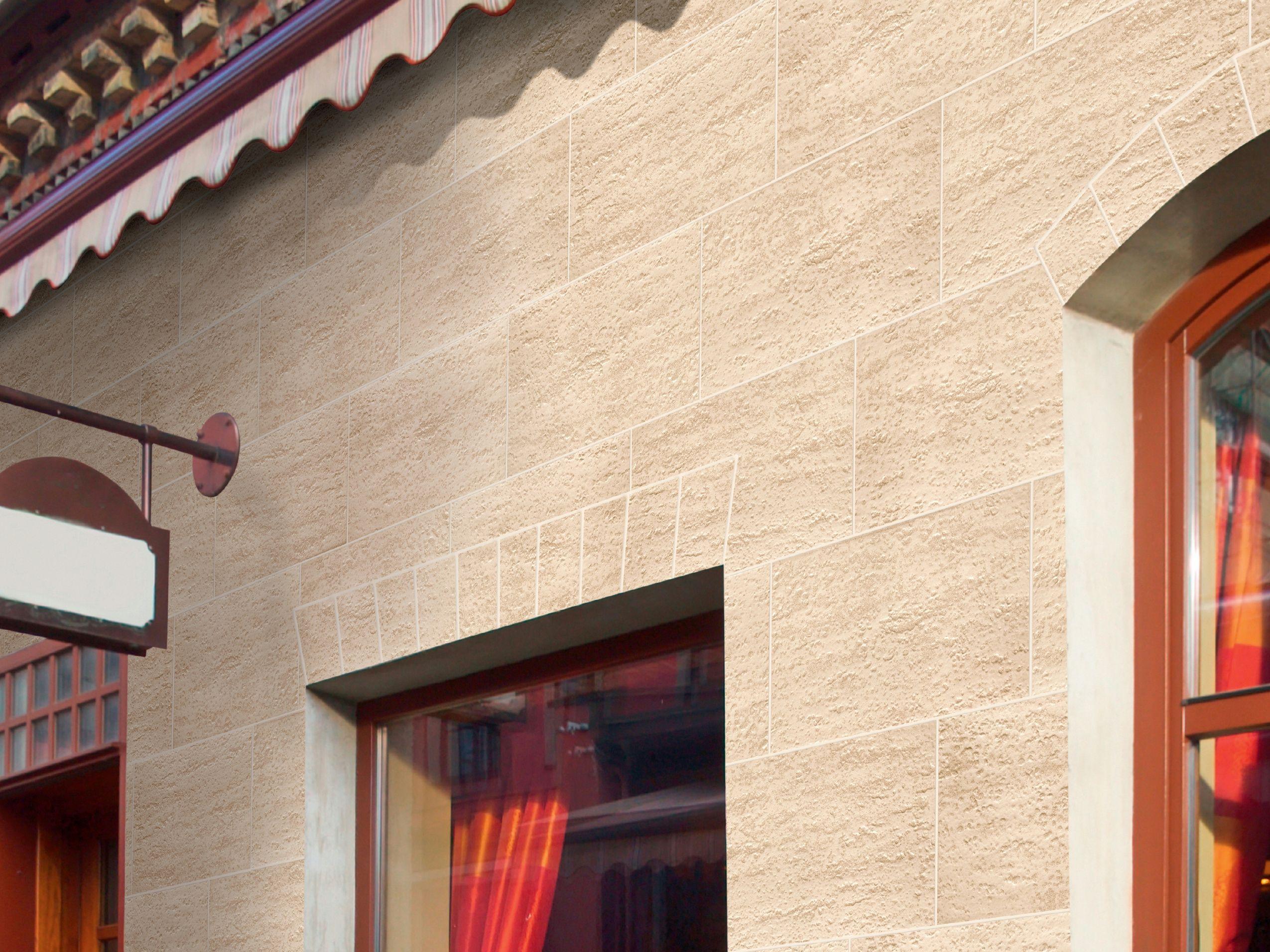 Revestimiento de pared de gres porcel nico para exterior - Revestimiento de fachadas exteriores ...