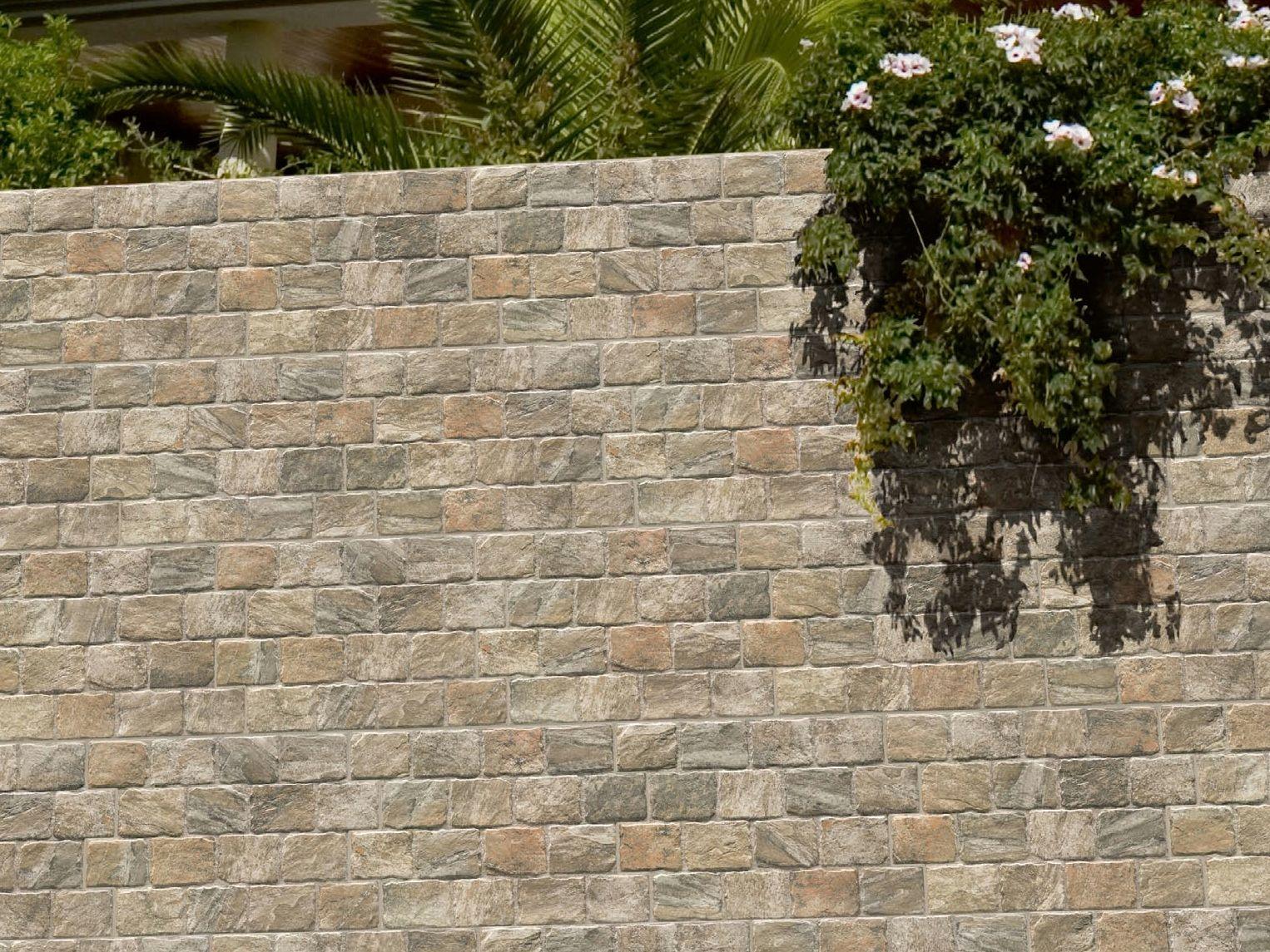 Revestimiento de pared baldosas de exterior de gres for Ceramica pared exterior