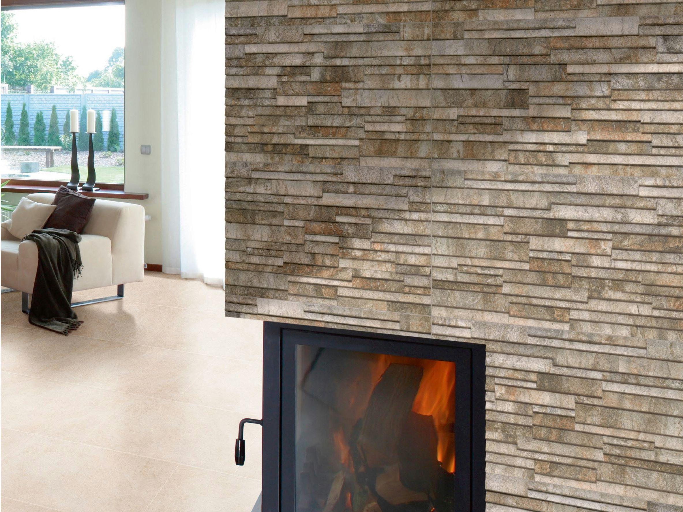 Revestimiento de pared de gres porcel nico para exterior for Revestimiento ceramico paredes interiores