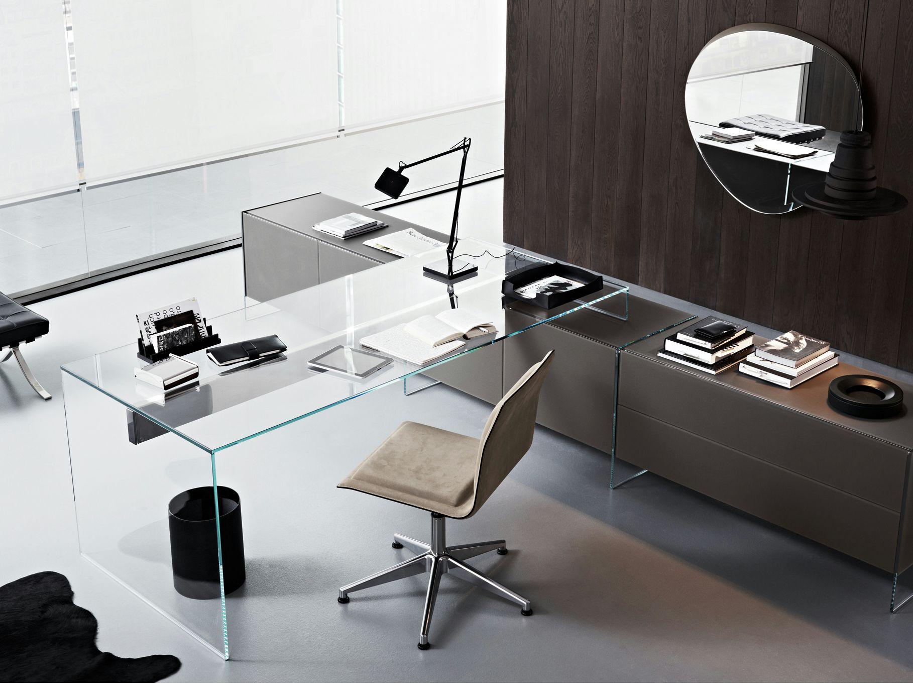 Scrivania in cristallo air desk 1 by gallotti&radice design ...