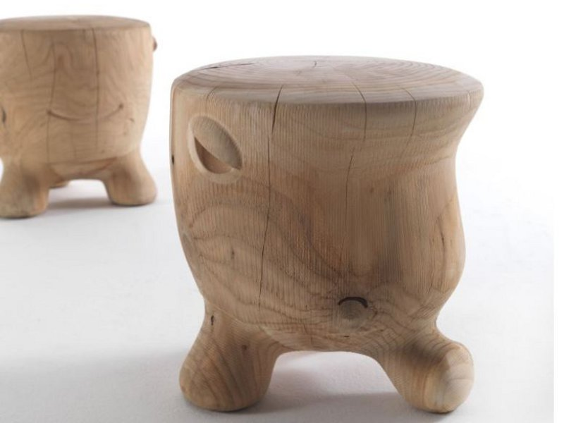 Solid wood stool ildiko by riva