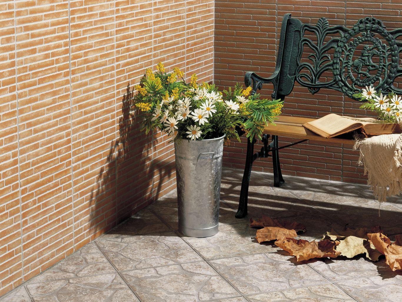 Revestimiento de pared imitaci n ladrillo para exterior - Imitacion piedra para exterior ...