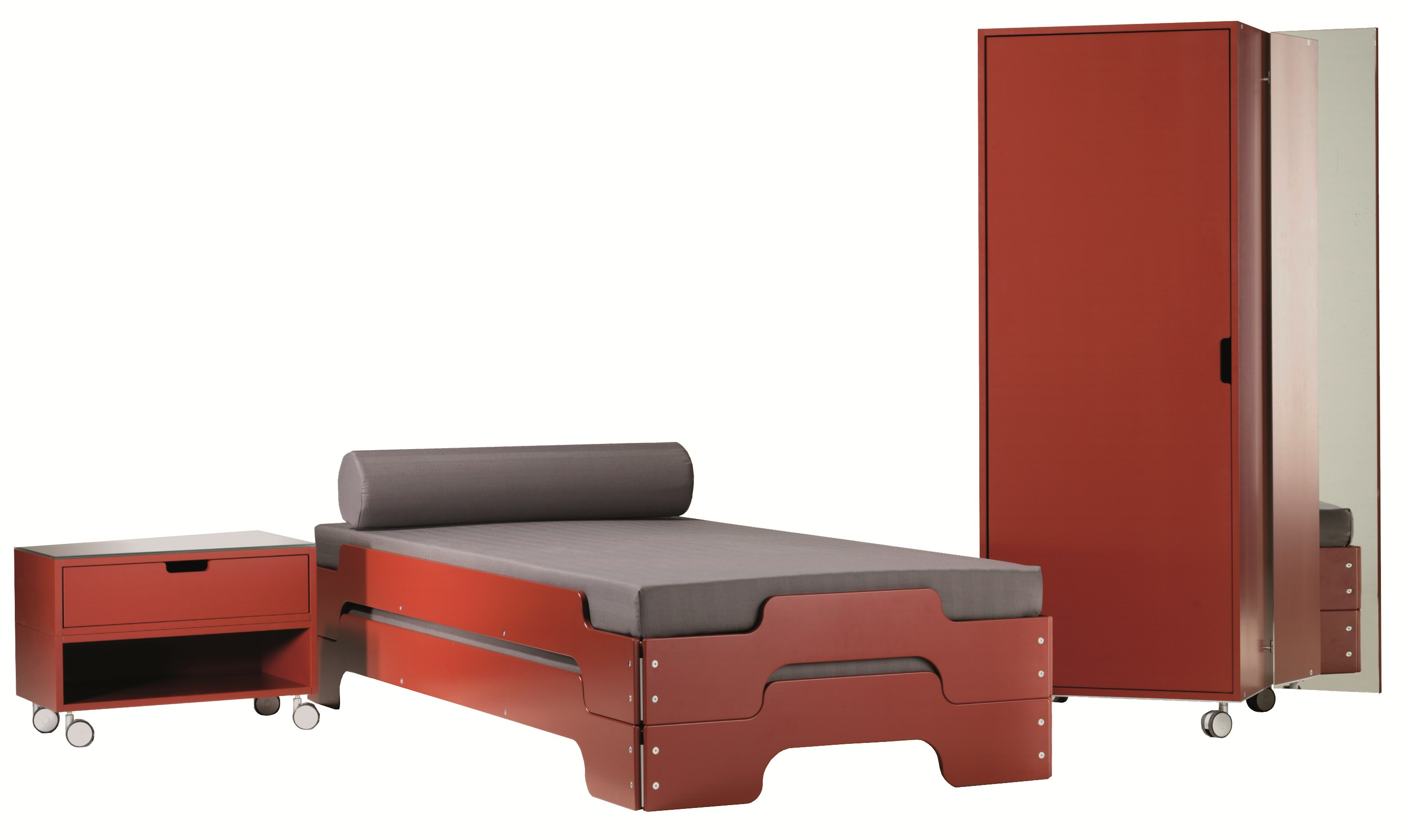 stackable single bed stackable bed by m ller. Black Bedroom Furniture Sets. Home Design Ideas