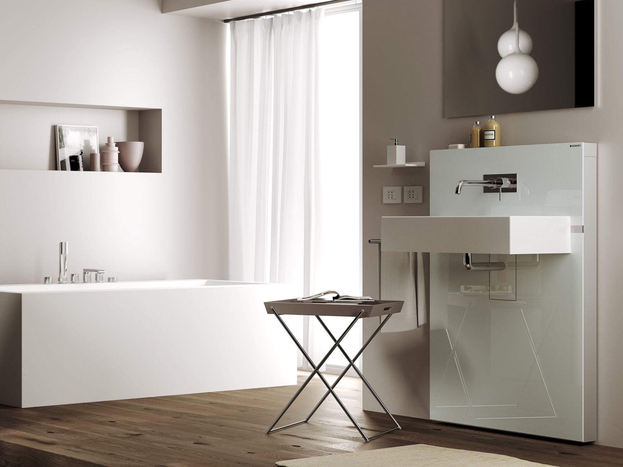 Monolith module sanitaire pour lavabo by geberit italia for Geberit italia