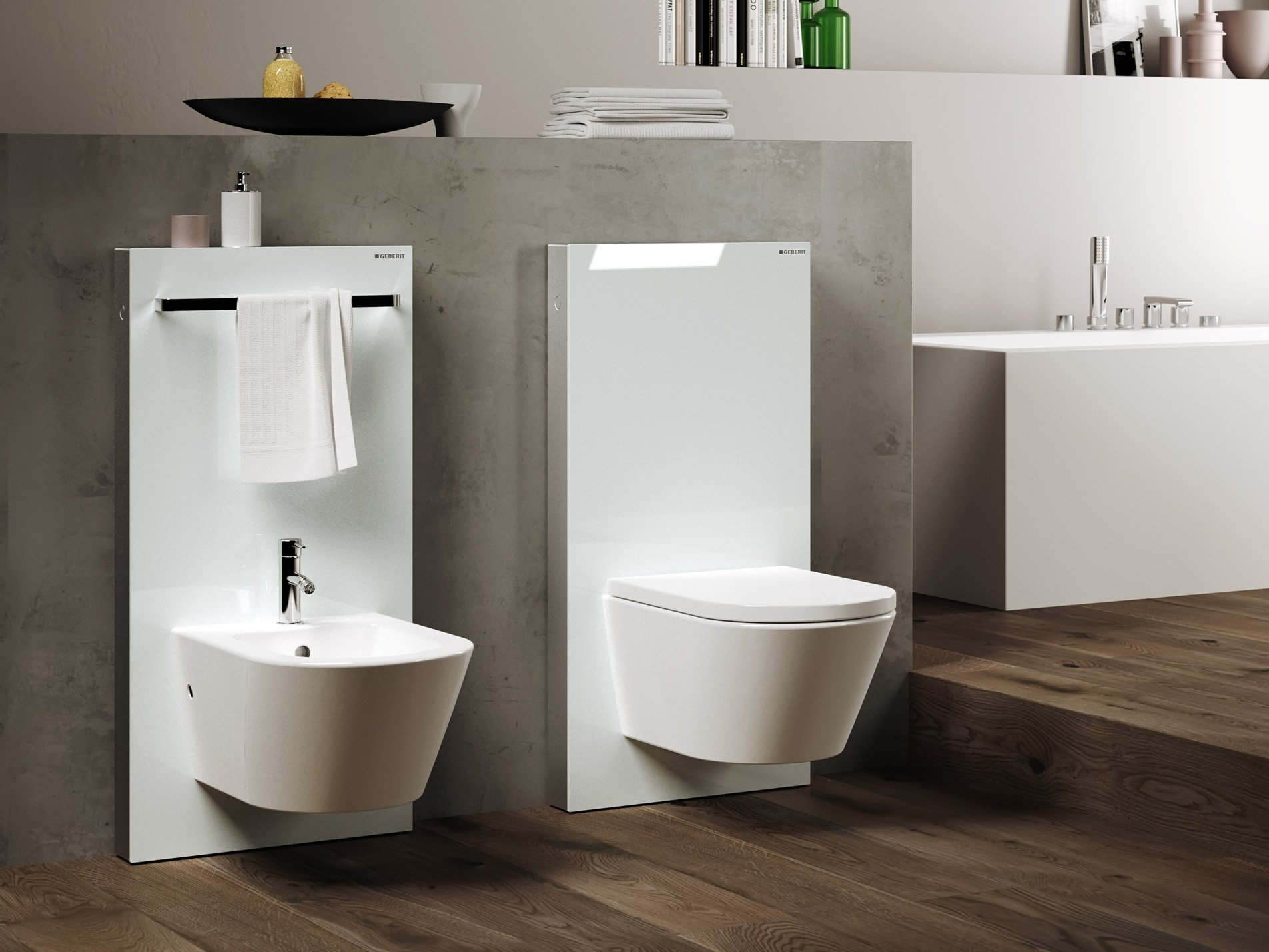 Monolith sanit rmodul f r bidet by geberit italia design for Geberit toilet system