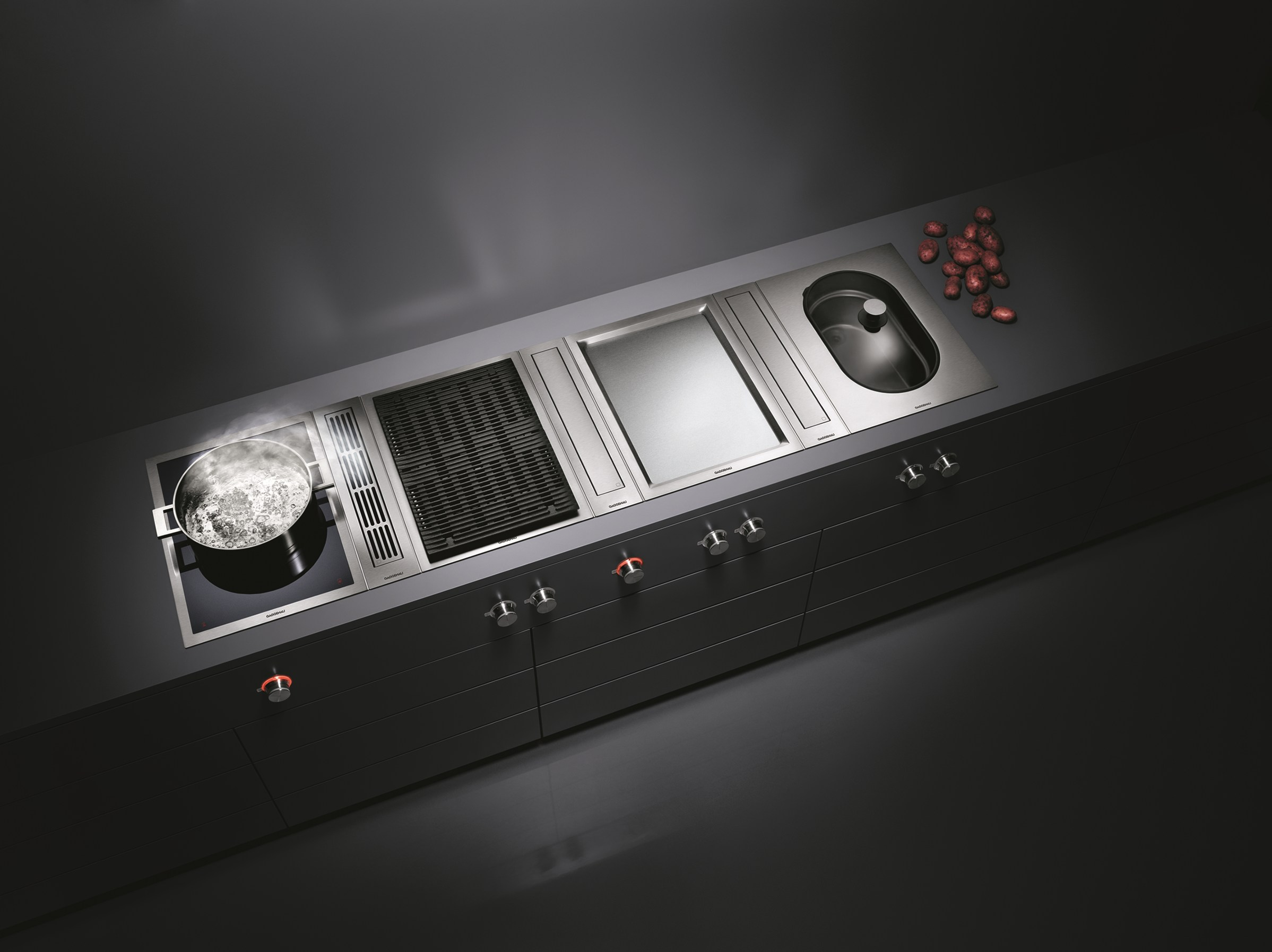hob vario 400 by gaggenau. Black Bedroom Furniture Sets. Home Design Ideas