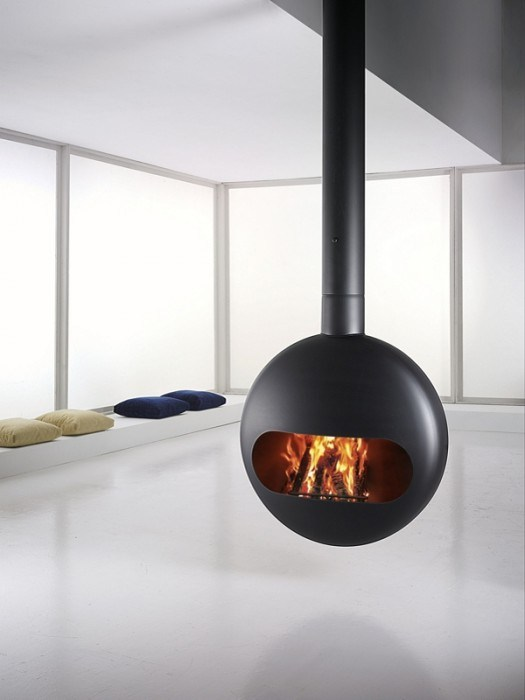 BUBBLE Chimenea de leña by ANTRAX IT radiators & fireplaces diseño ...