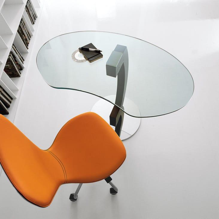 table basse en cristal pour ordinateur portable kirk by cattelan italia design giorgio cattelan. Black Bedroom Furniture Sets. Home Design Ideas