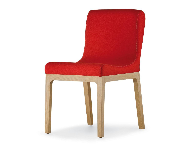 gepolsterter stuhl aus holz gilda by pedrali design roberto semprini. Black Bedroom Furniture Sets. Home Design Ideas