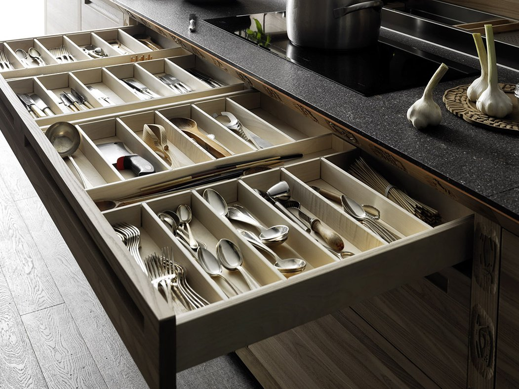 Cocina integral de madera sinetempore by valcucine for Planos para cocina integral de madera