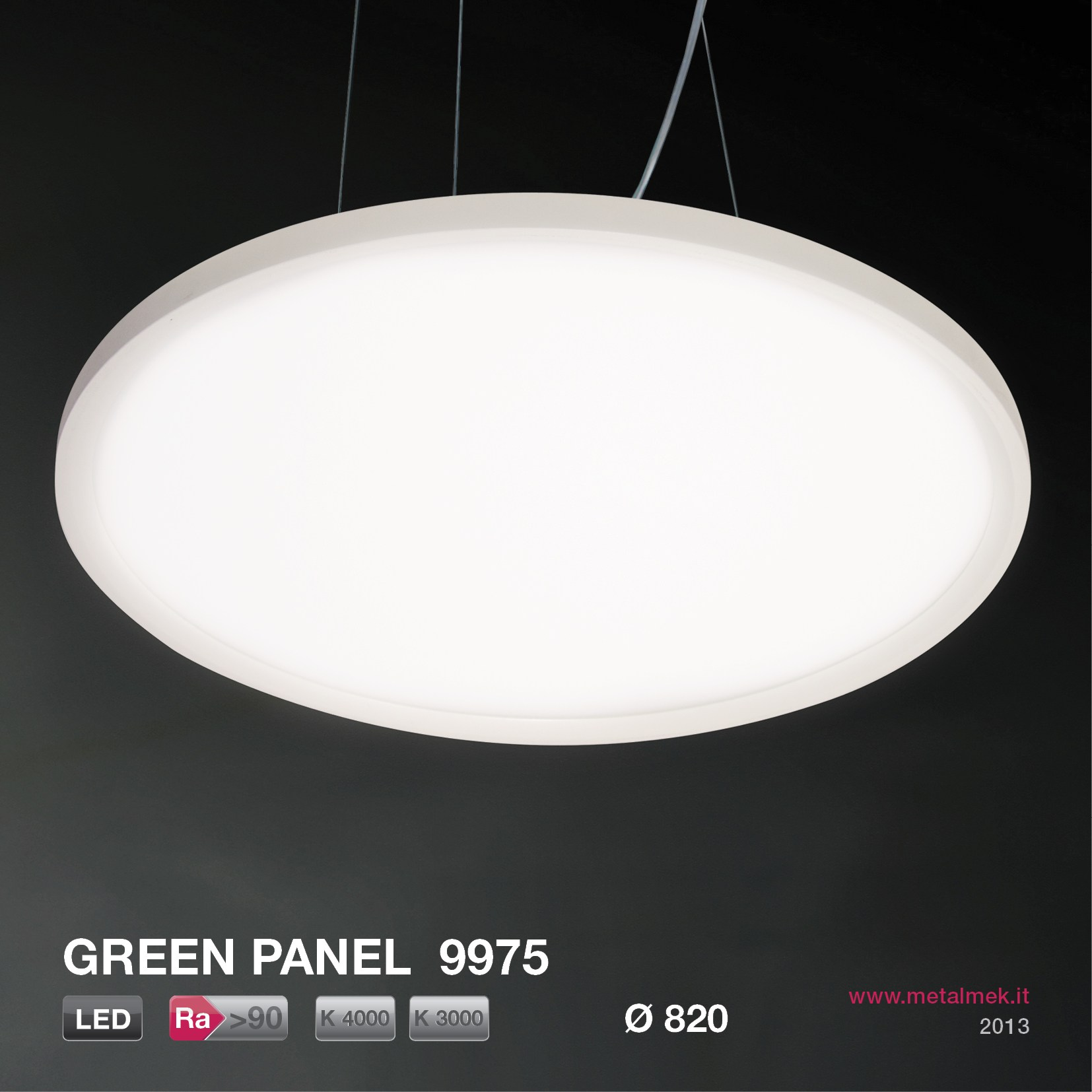 led pendelleuchte green panel round 9975 820 serie green panel by metalmek illuminazione. Black Bedroom Furniture Sets. Home Design Ideas