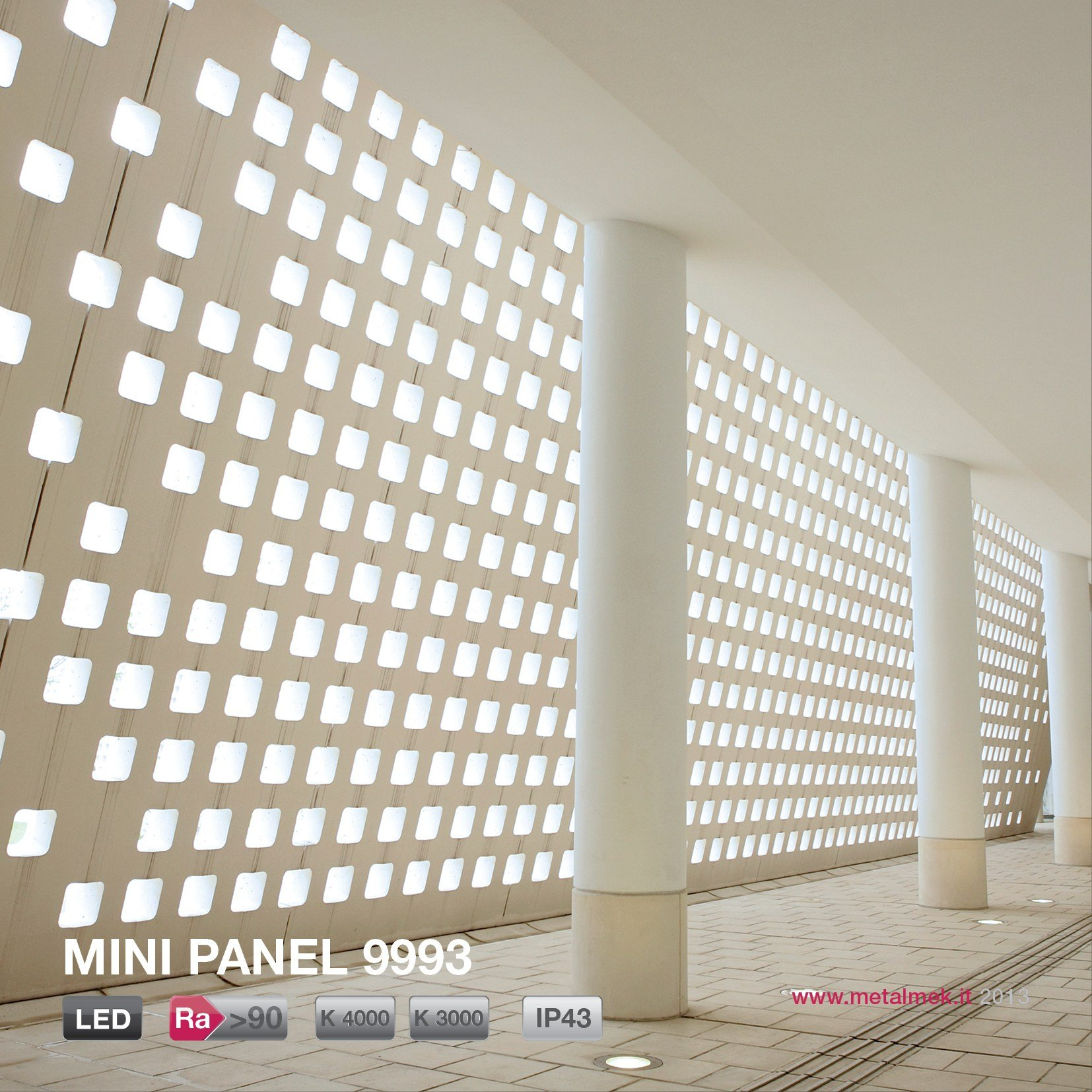 Wall lamp / ceiling lamp MINI PANEL SQUARE 9993 180x180 LED by METALMEK ILLUMINAZIONE design ...