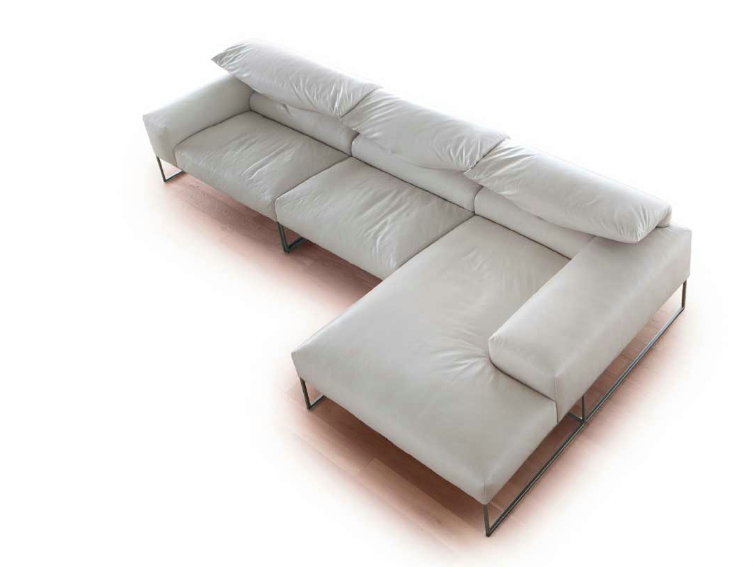 Forever young sectional sofa by erba italia design giorgio for Divano reclinabile
