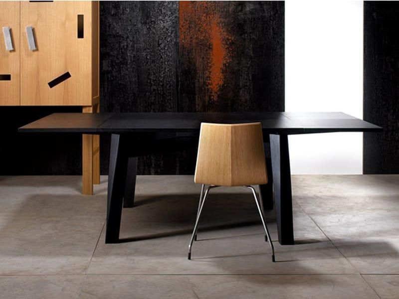 Tavolo allungabile in legno massello bacco by estel group design enrico tonucci - Tavolo quadrato allungabile legno massello ...