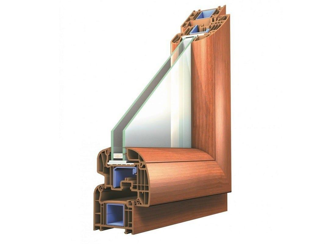Pvc double glazed window platinium platinium series by for Pvc double glazing