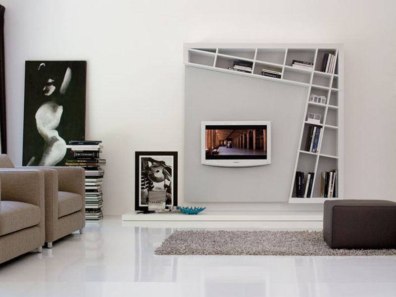 LIBRERIA CON PORTA TV GIANO DYNAMIC LINEA ESTEL CASA BY ESTEL GROUP
