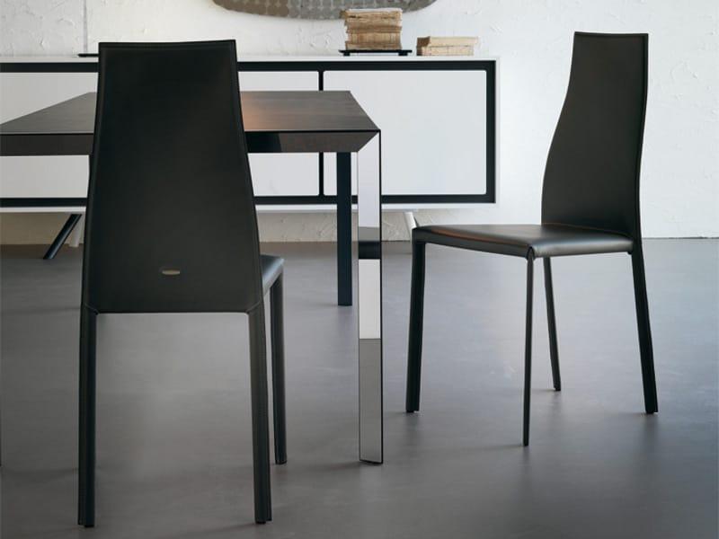 Sedia in cuoio kaori by cattelan italia design paolo cattelan