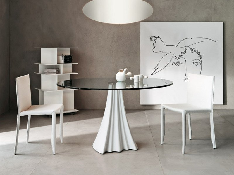 Sipario bistrot by cattelan italia design pierpaolo zanchin for Tavolo rotondo cristallo