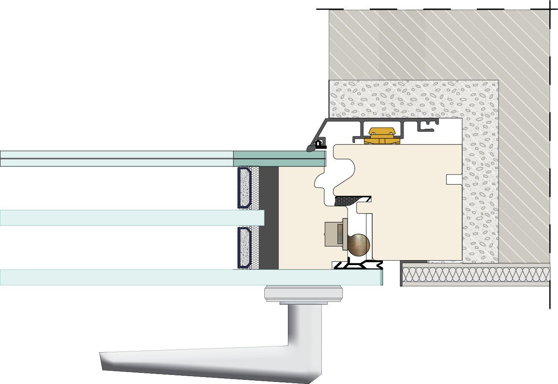 #AB8320 Janela integrada na parede GHOST by ITALSERRAMENTI design  610 Janelas En Vidros