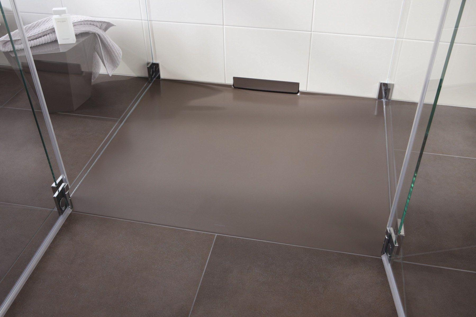 Piatto doccia filo pavimento in acciaio smaltato xetis by - Piatto doccia pavimento ...