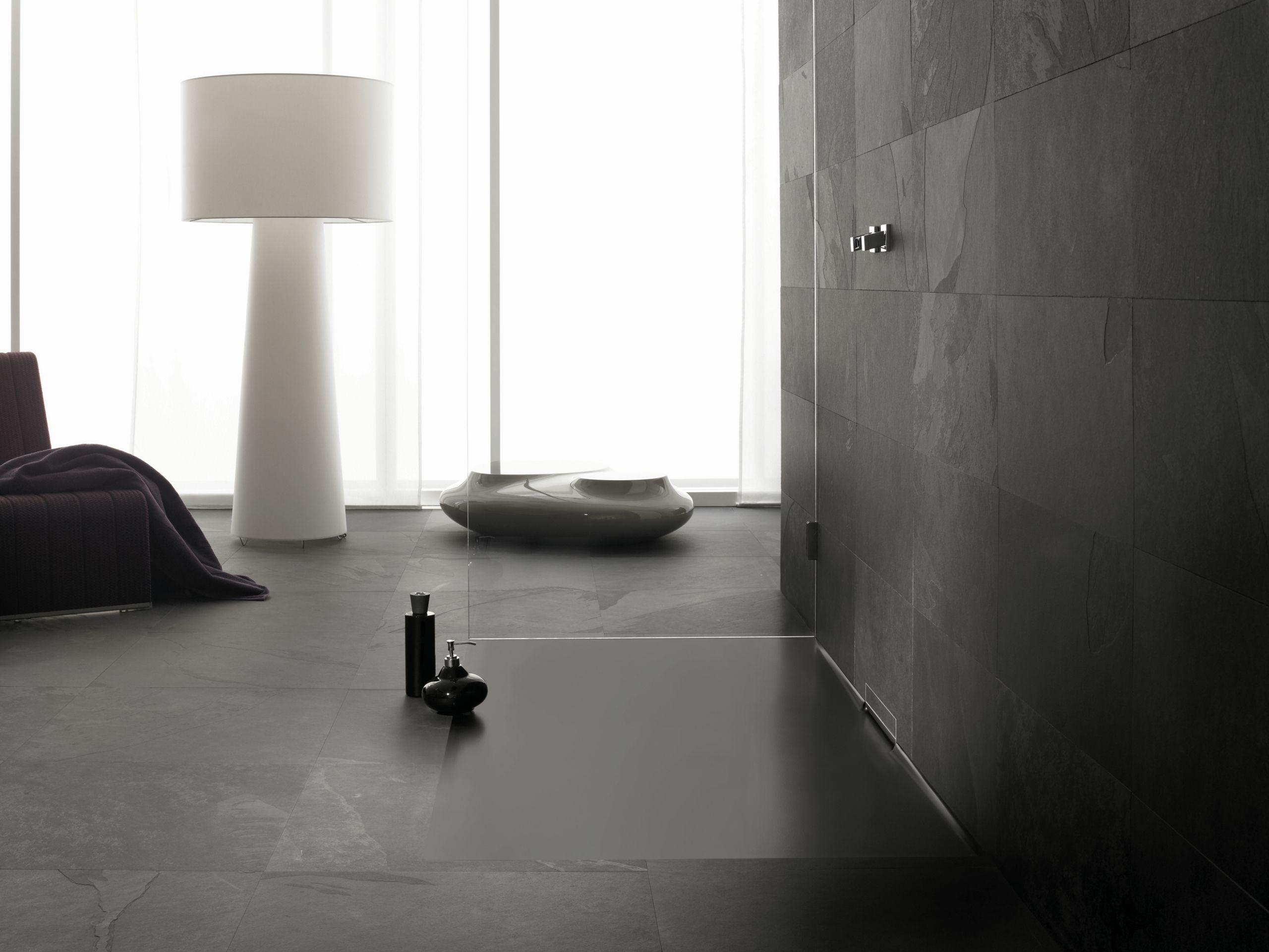 Piatto doccia filo pavimento in acciaio smaltato xetis by - Piatto doccia filo pavimento opinioni ...