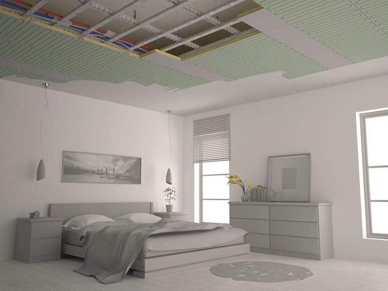 Pannelli per controsoffitto radiante in cartongesso b klimax cartongesso by rdz - Riscaldamento pannelli radianti a parete ...