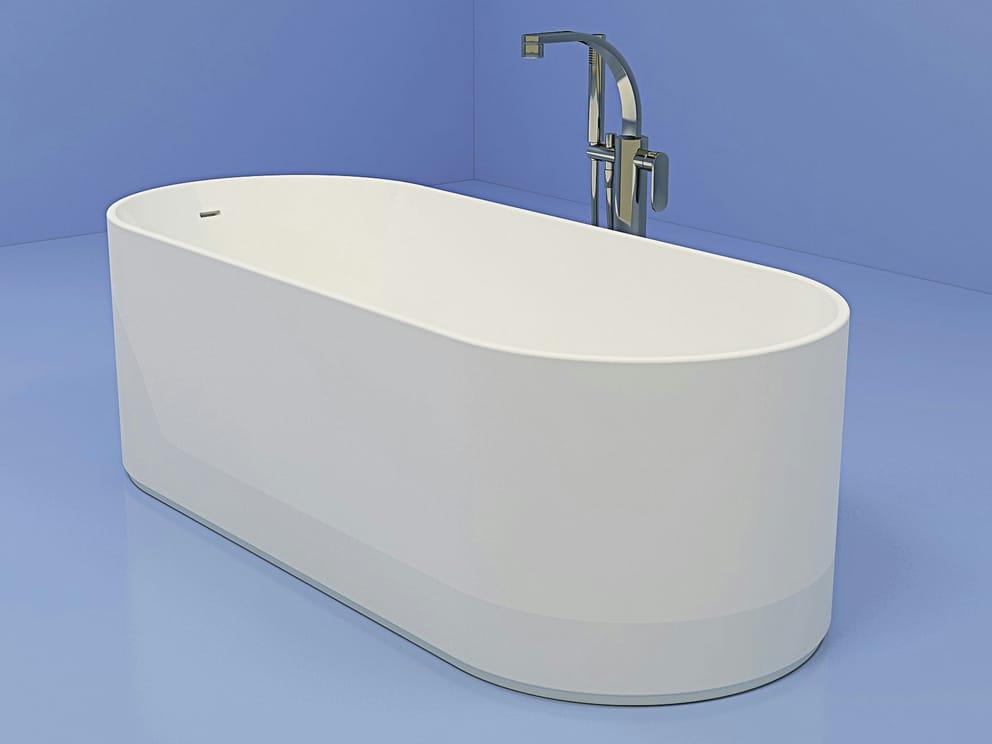Vasca da bagno ovale in pietraluce oval linea oval by ceramica flaminia design giulio cappellini - Prodotti per pulire vasca da bagno ...