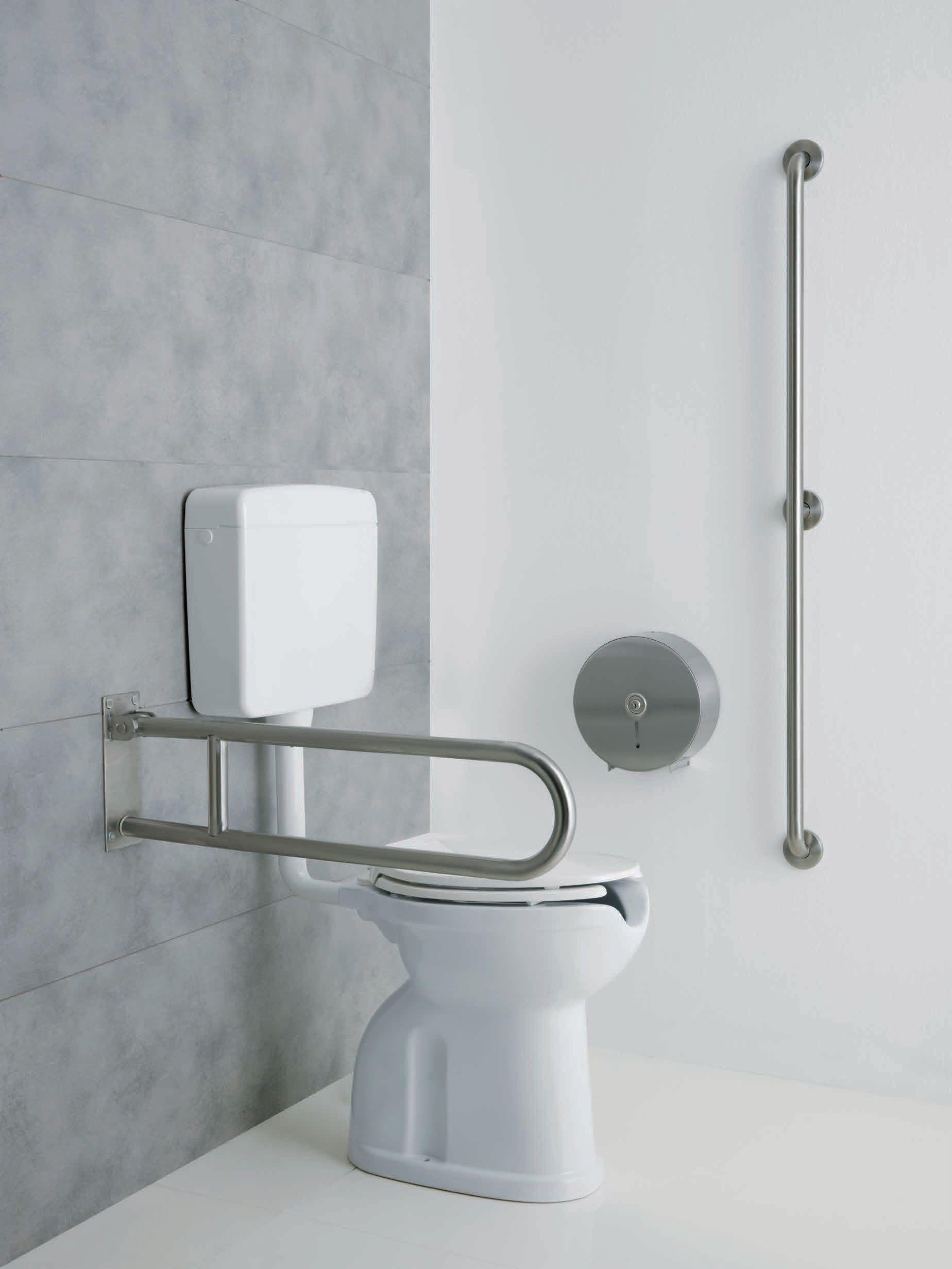 Bagnosicuro acciaio inox satinato folding grab bar by - Grab bars for toilet in bathrooms ...