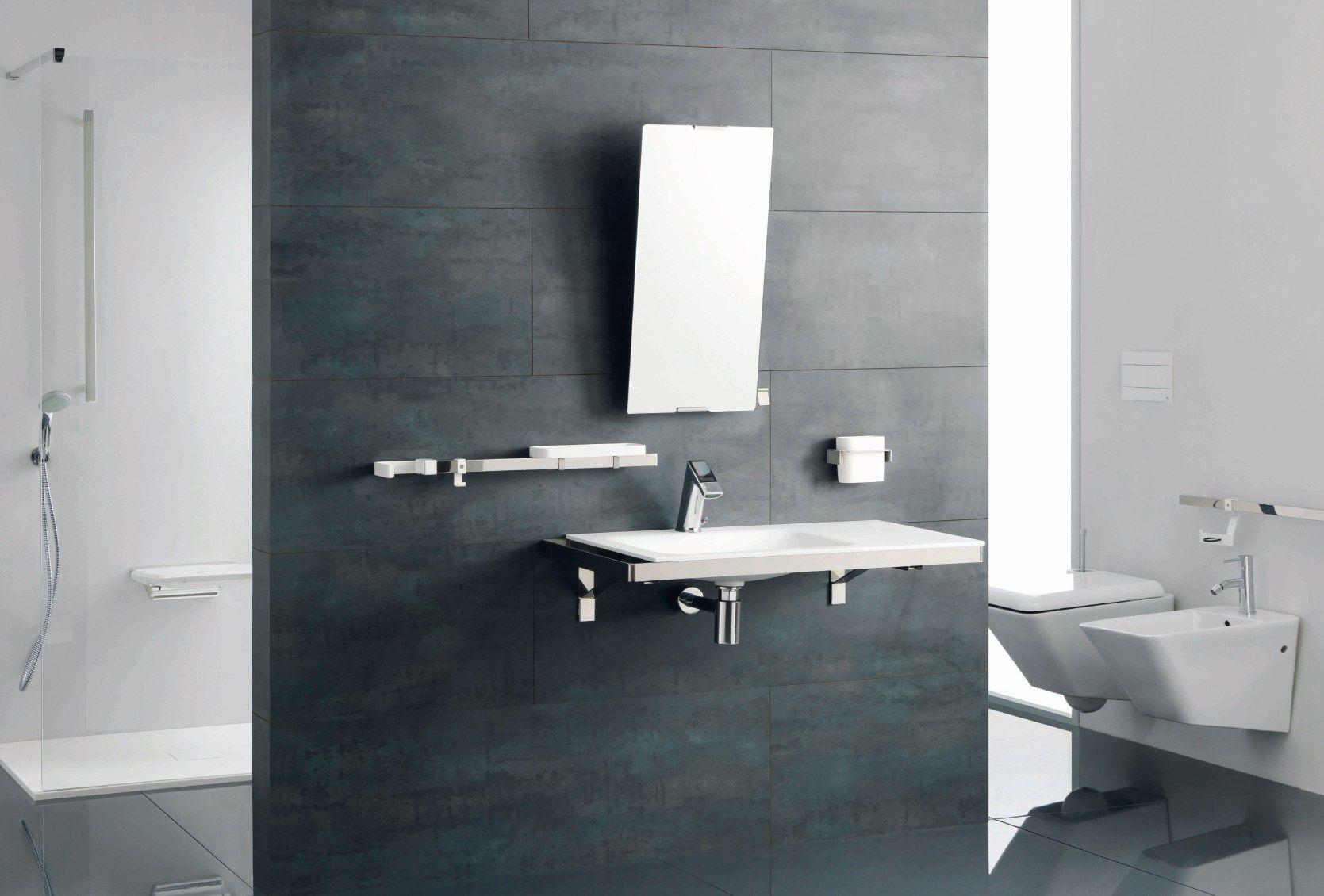 Specchio rettangolare a parete per bagno collezione - Ponte giulio bagno disabili ...
