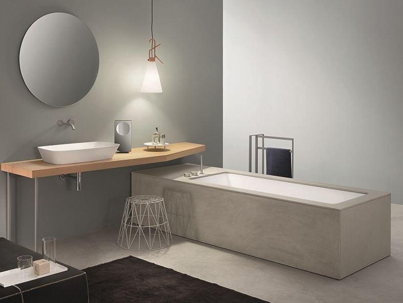 Vasca da bagno sottopiano com finitura Ecocemento WAVE ...