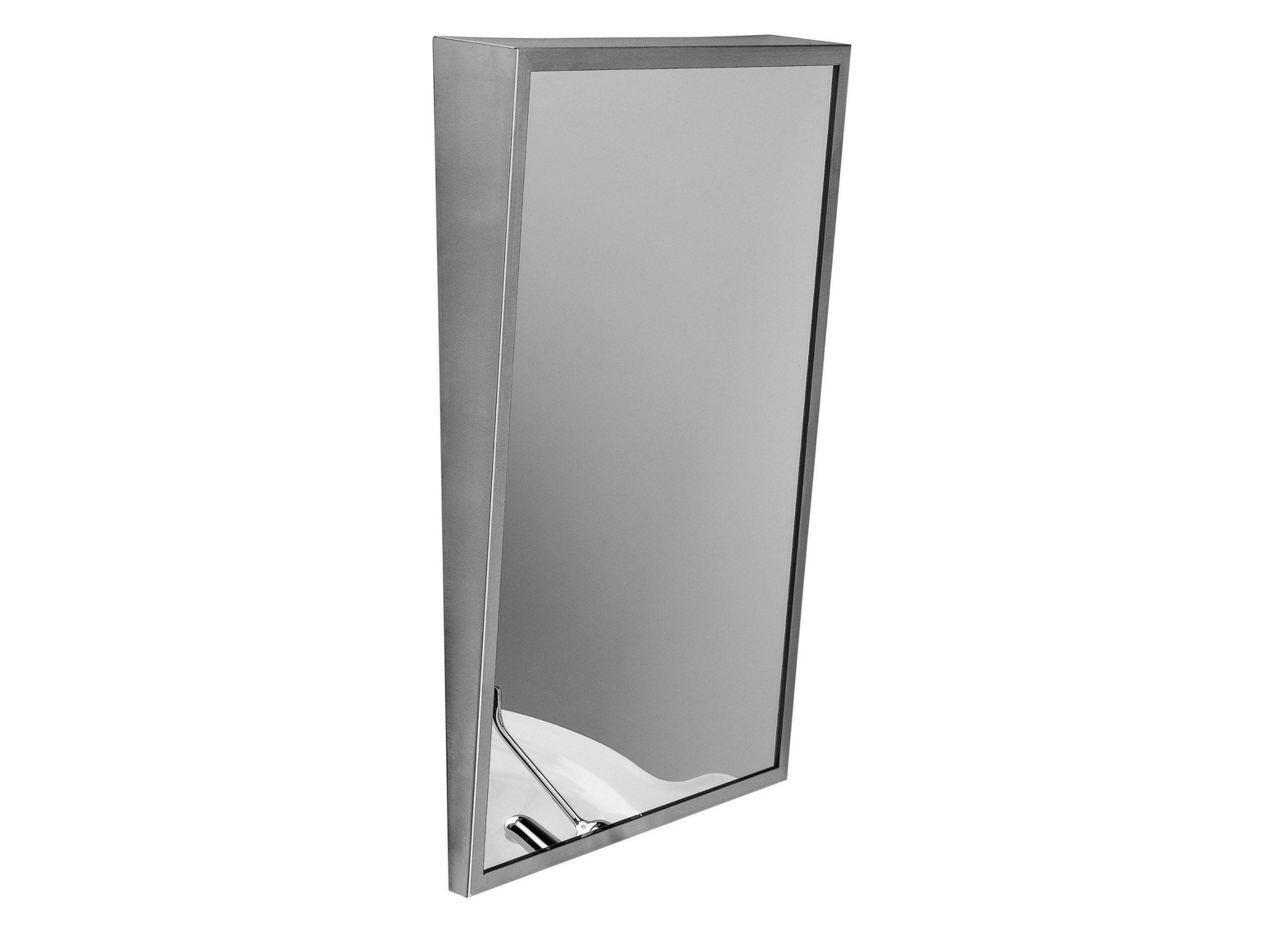 Miroir mural avec cadre pour salle de bain collection for Set salle de bain inox