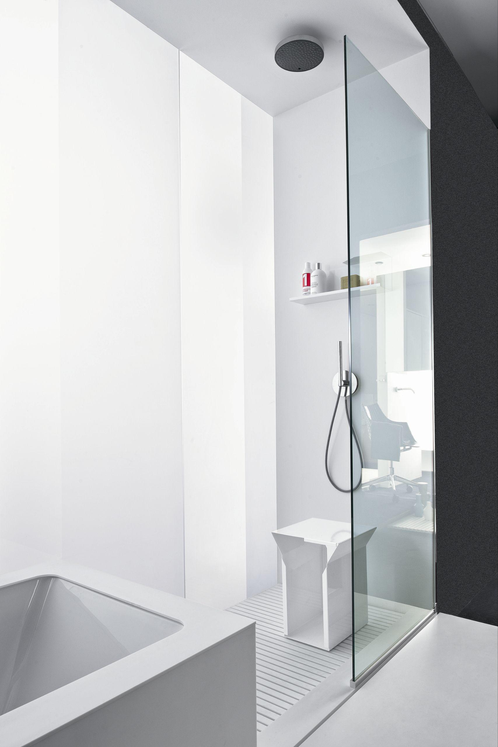 Bathroom Furniture Set Bathtub Shower Tray Linear 01
