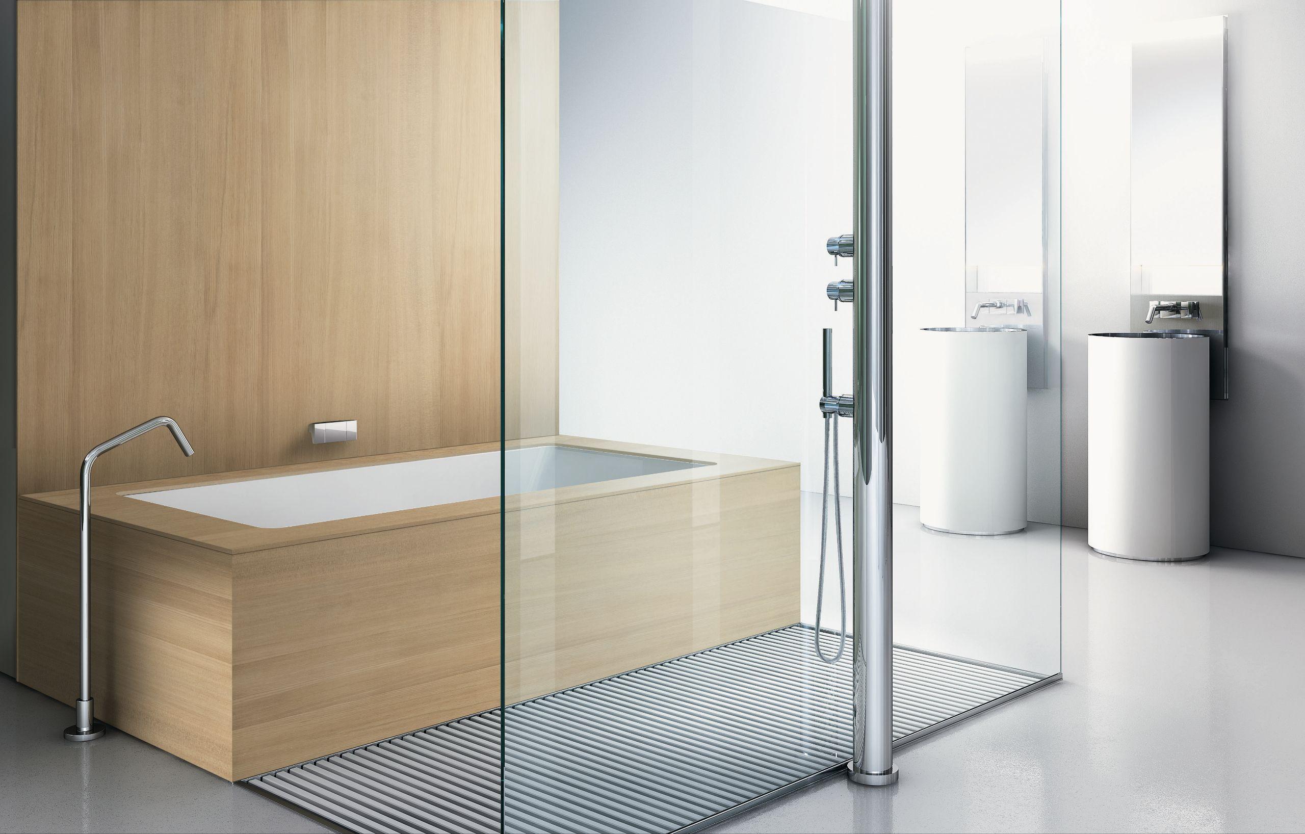 Arredo bagno completo sistema vasca doccia frontale 01 by makro design makro design - Vasca bagno doccia ...